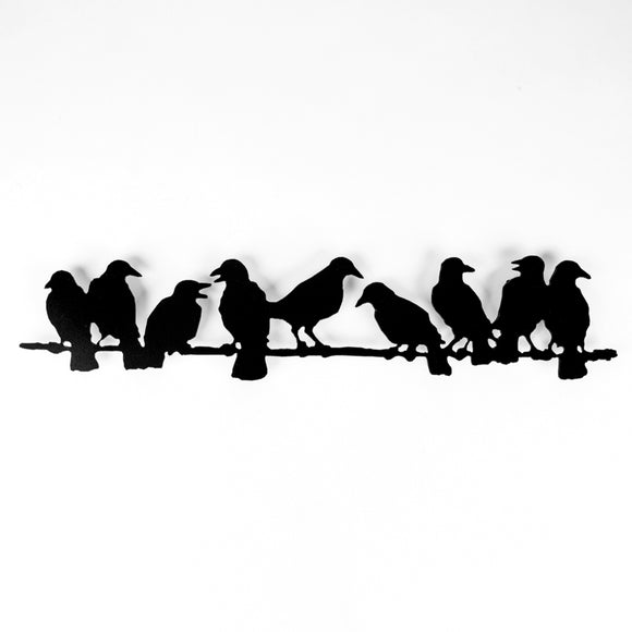 9 Ravens on a Branch - Black Steel