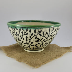 Pottery Bowl - Vine - Medium