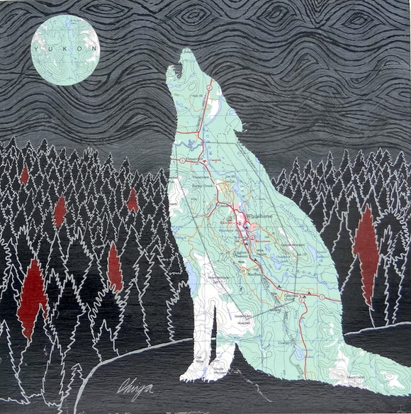 Whitehorse Wolf - Magnet