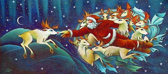 Creation Of Rudolf Christmas Art Card