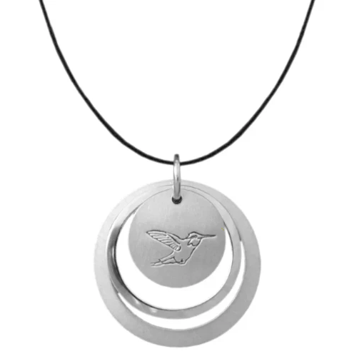 Winterchild, Silver Circle Necklace