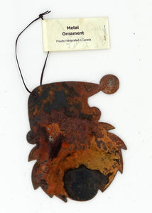 Rusted Metal Santa Ornament