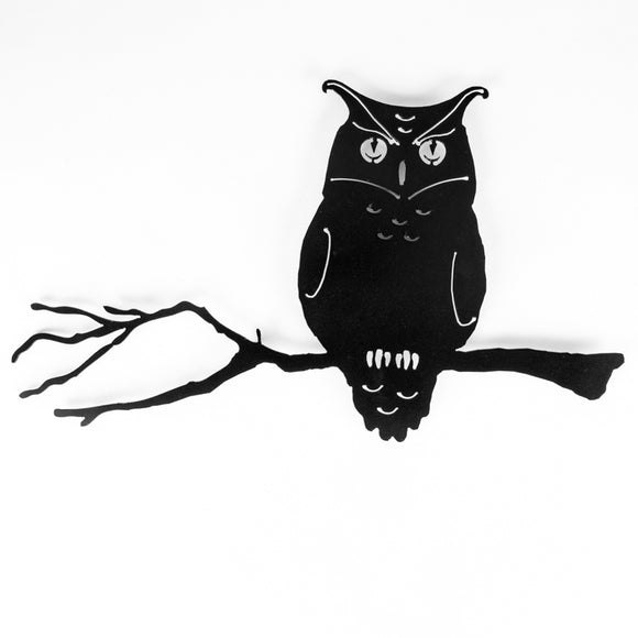 Owl Branch - Black Steel