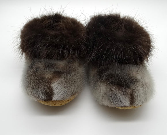 Small Slippers-Seal/Beaver