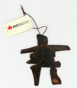 Rusted Metal Inukshuk Ornament