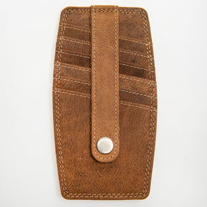 215 Credit Card Holder Wallet - Bison Leather