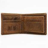 254 Wallet - Hidden Compartment - Bison Leather