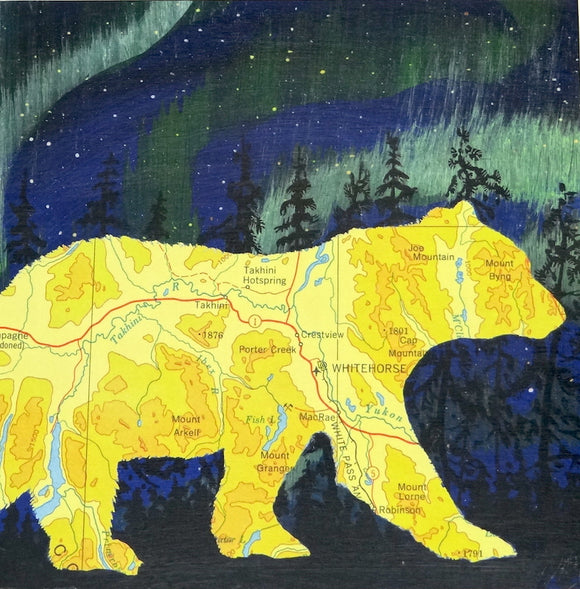 Whitehorse Bear (Yellow) 10x10