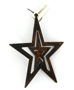 Rusted Metal Hanging Star