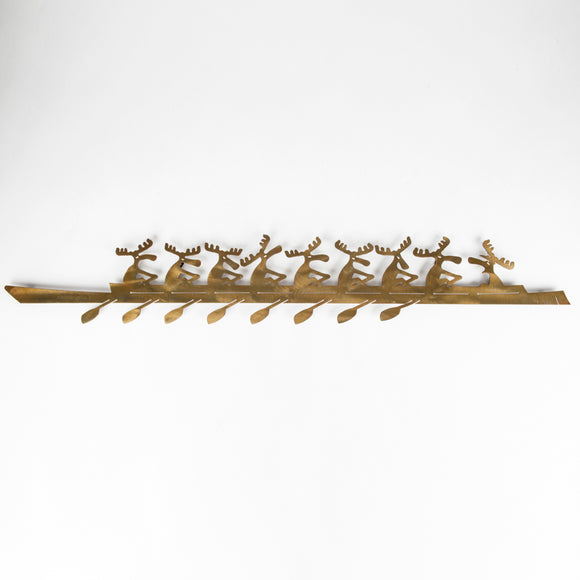 Moose Rowers - Wall - Oxidized Steel