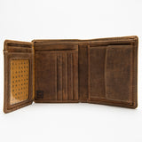 237 Bill Fold Wallet - Bison Leather