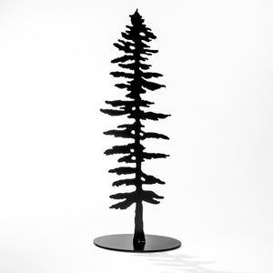 Spruce Tree Med Standing - Black Steel