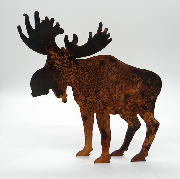 Rusted Metal Moose- Small