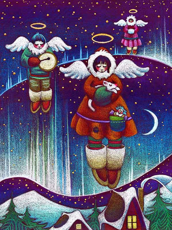 Angels of the North Christmas Art Card