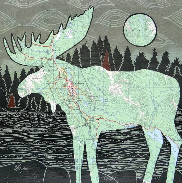 Whitehorse Moose Art Card