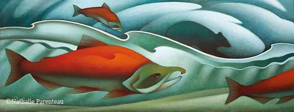 Song Of Salmon - Giclee Canvas