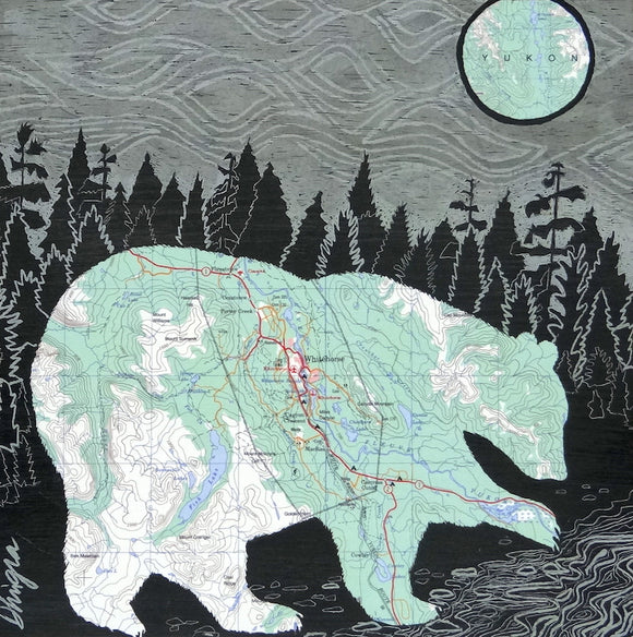Whitehorse Bear Art Card