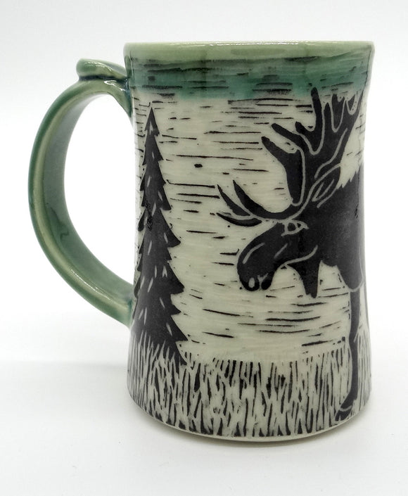 Pottery Tankard - Moose