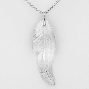 Feather Necklace- Sterling Silver