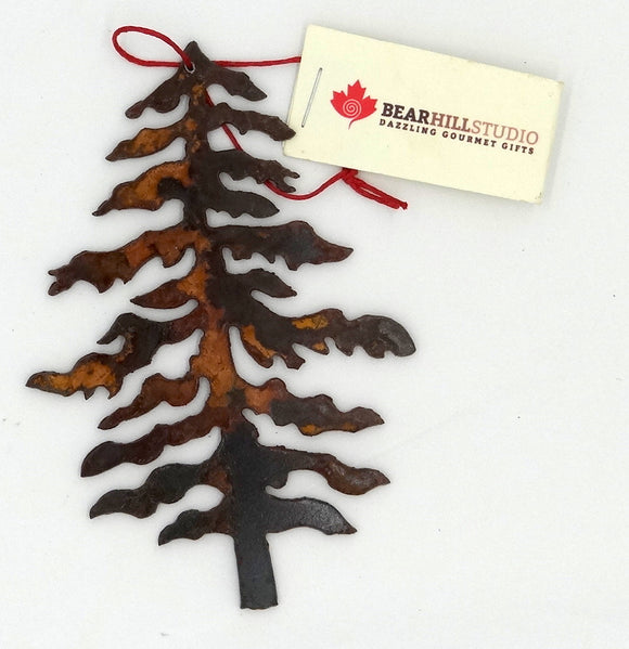 Rusted Metal  Tree Ornament