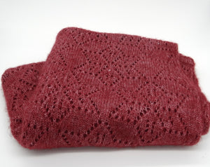 Qiviuq & Silk-Lace Shawl-Ruby