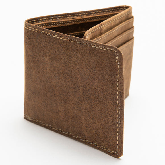 218 Bill Fold Wallet - Bison Leather