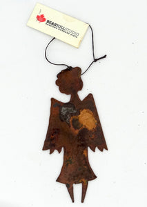 Rusted Metal Angel Ornament