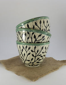 Pottery Bowl - Vine - Small