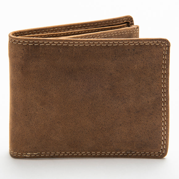 233 Bill Fold Wallet - Bison Leather