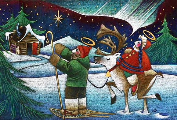A Little Bit North of Bethlehem Christmas Art Card