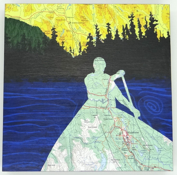 Whitehorse Canoeist Art Card