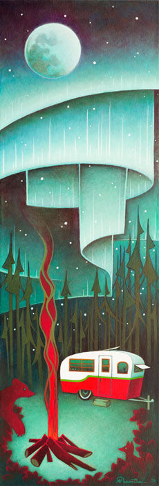 Aurora Camping - Giclee Canvas