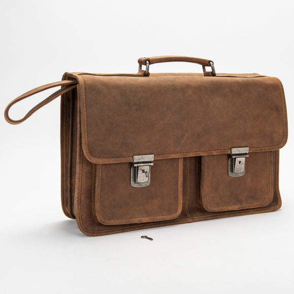 2001 Briefcase - Bison Leather