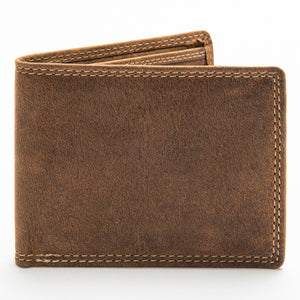 211 Bill Fold Wallet - Bison Leather