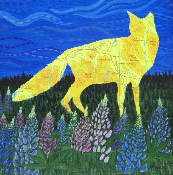 Whitehorse Fox (Yellow) Art Card