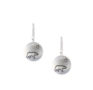 Winterchild, Silver Disk Earrings