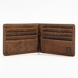 210 Money Clip Wallet - Bison Leather