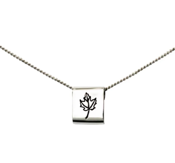 Winterchild, Silver Mini Square Necklace