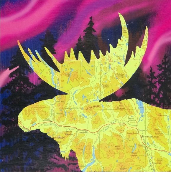 Whitehorse Moose (Yellow) - Magnet