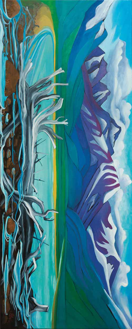 Yukon Art Scarf - Glacier Fed Lake