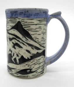 Pottery Tankard - 3 Sisters Mountains