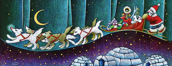 The Aurora Express Christmas Art Card