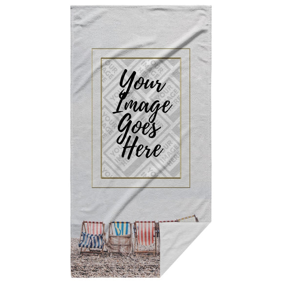 The Bow Wow Lounge Chair Tow-L Customized Beach Towel - Personalized Beach Towel - SmarchPawz#