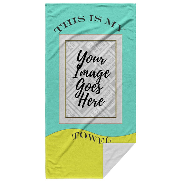The Bow Wow My Tow-L Customized Beach Towel - Personalized Beach Towel - SmarchPawz#