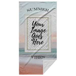 The Bow Wow Summer Tow-L Customized Beach Towel - Personalized Beach Towel - SmarchPawz#