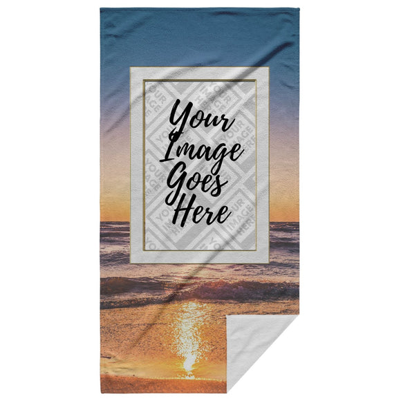 The Bow Wow Sunset Tow-L Customized Beach Towel - Personalized Beach Towel - SmarchPawz#