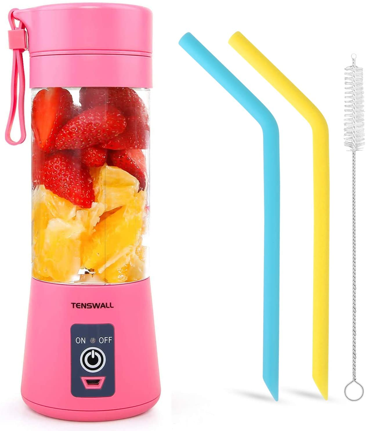 Portable Personal Size Blender Shakes and Smoothies Mini Juicer Cup USB Rechargeable