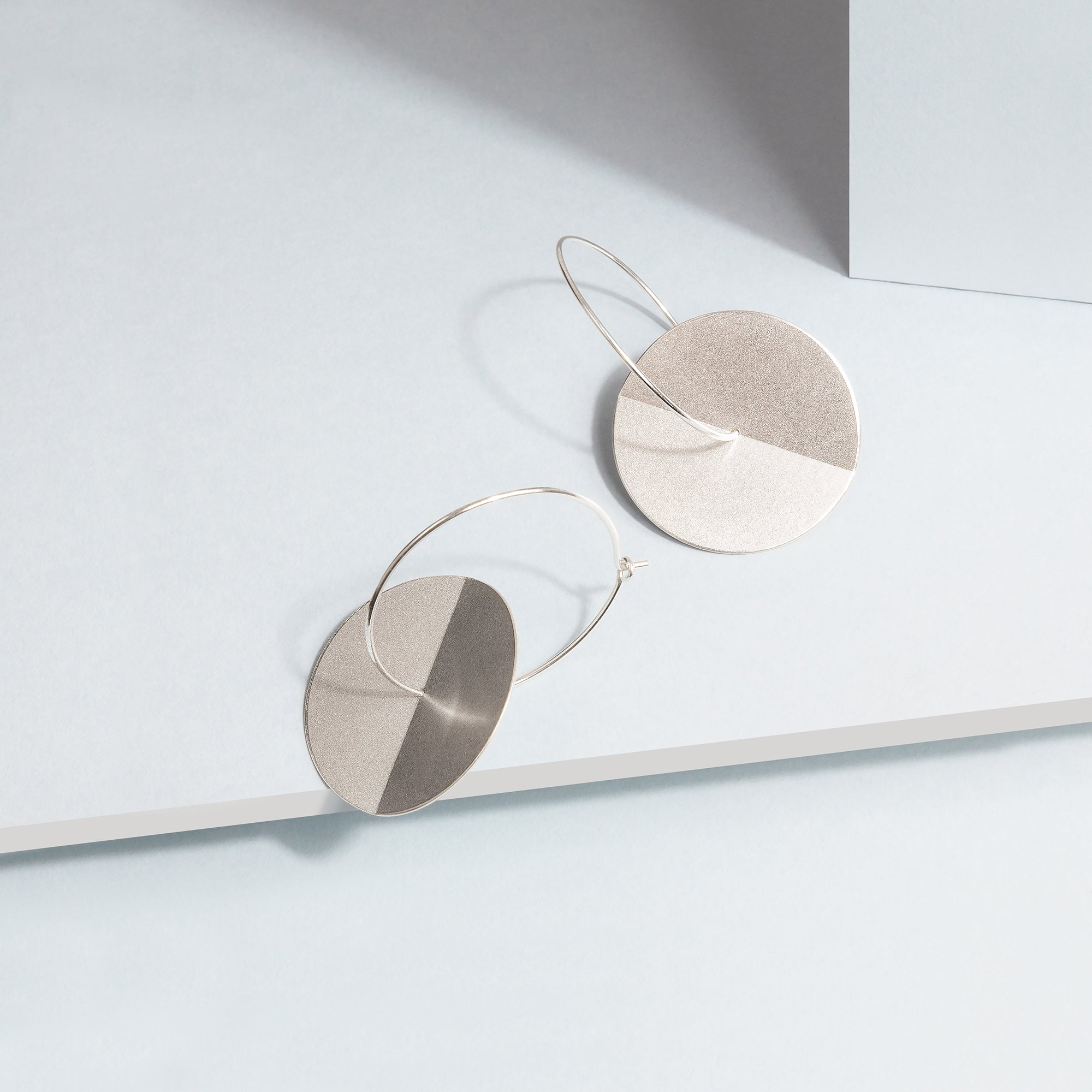 Fold Earrings - Silver