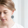Contour Earrings - Oxidised