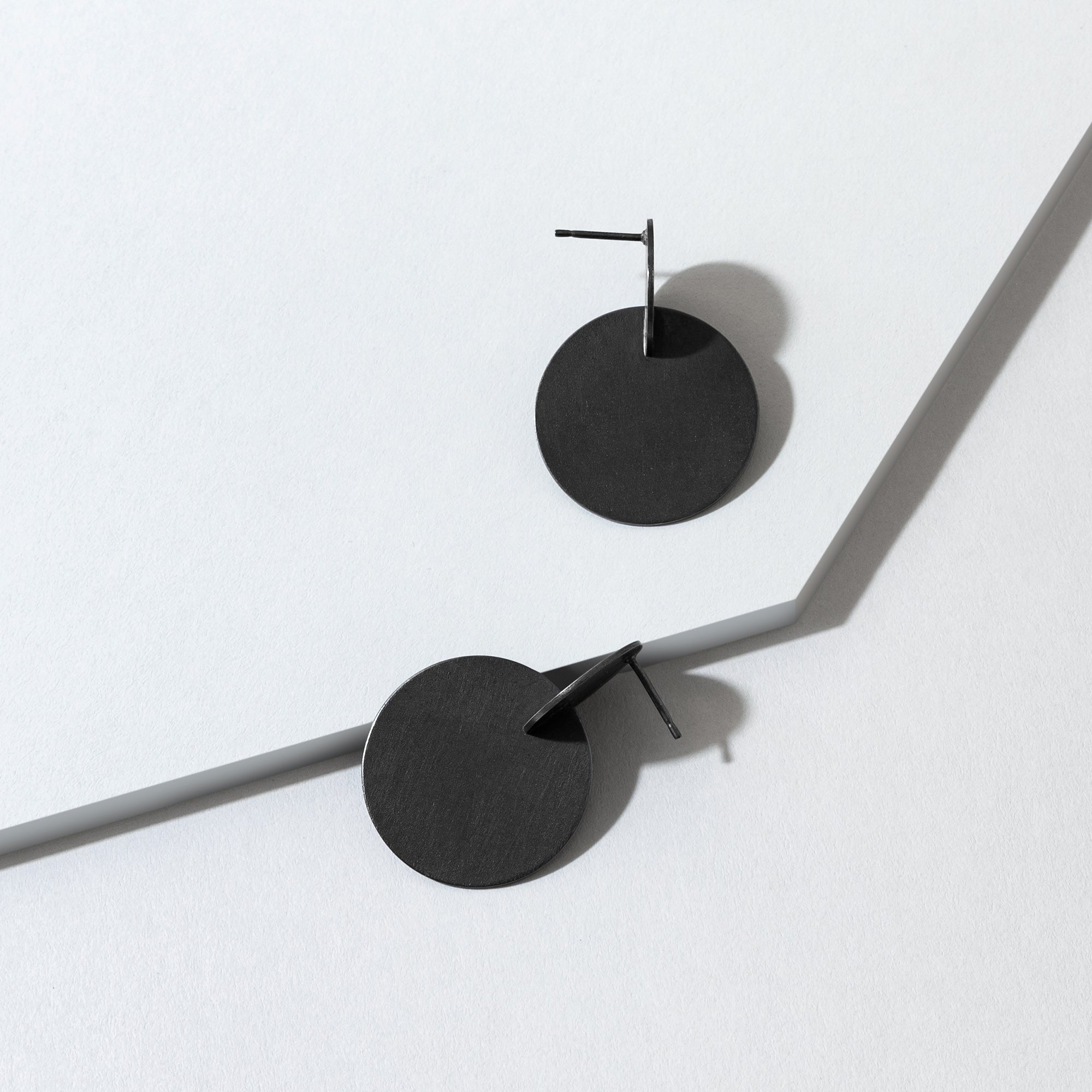 Large Splice Earrings - Oxidised